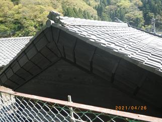 I邸蔵の修繕工事